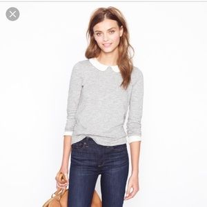 J Crew Peter Pan Collar Tee